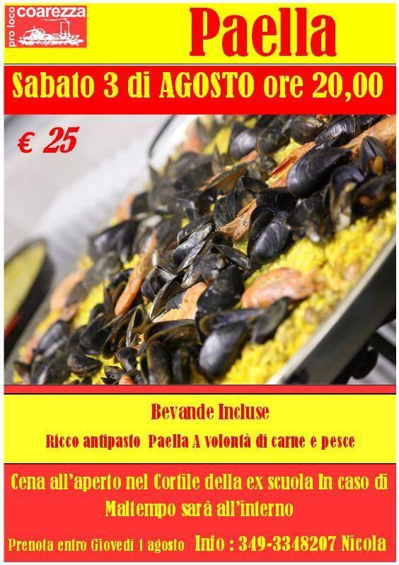 Festa degli uomini - Paella gigante