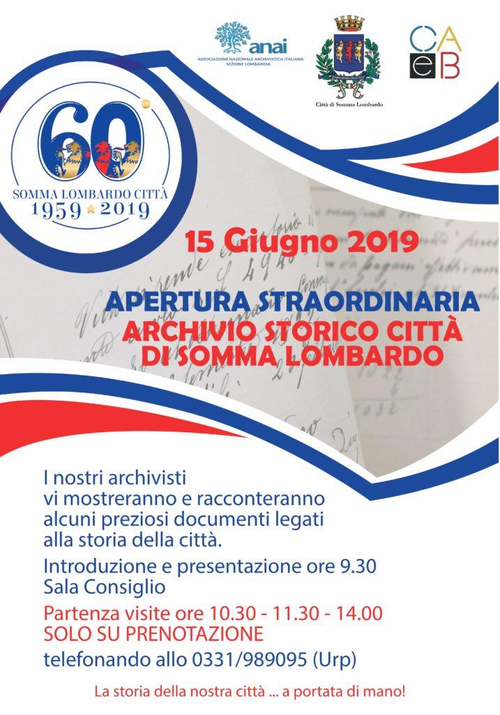 Apertura straordinaria Archivio storico comunale