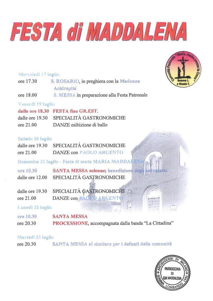 Festa Patronale di Maddalena