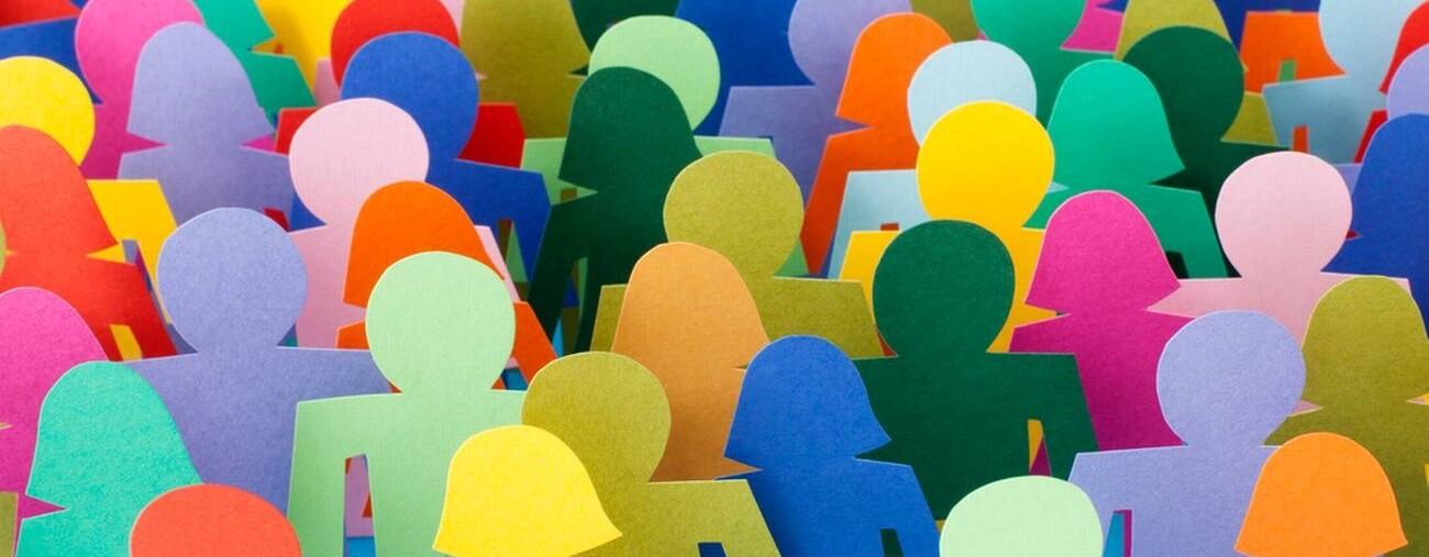 Immagine grafica stilizzata di un gruppo di persone
