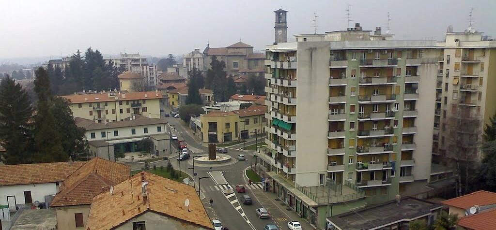 Immagine con uno scorcio dall'alto su Somma Lombardo
