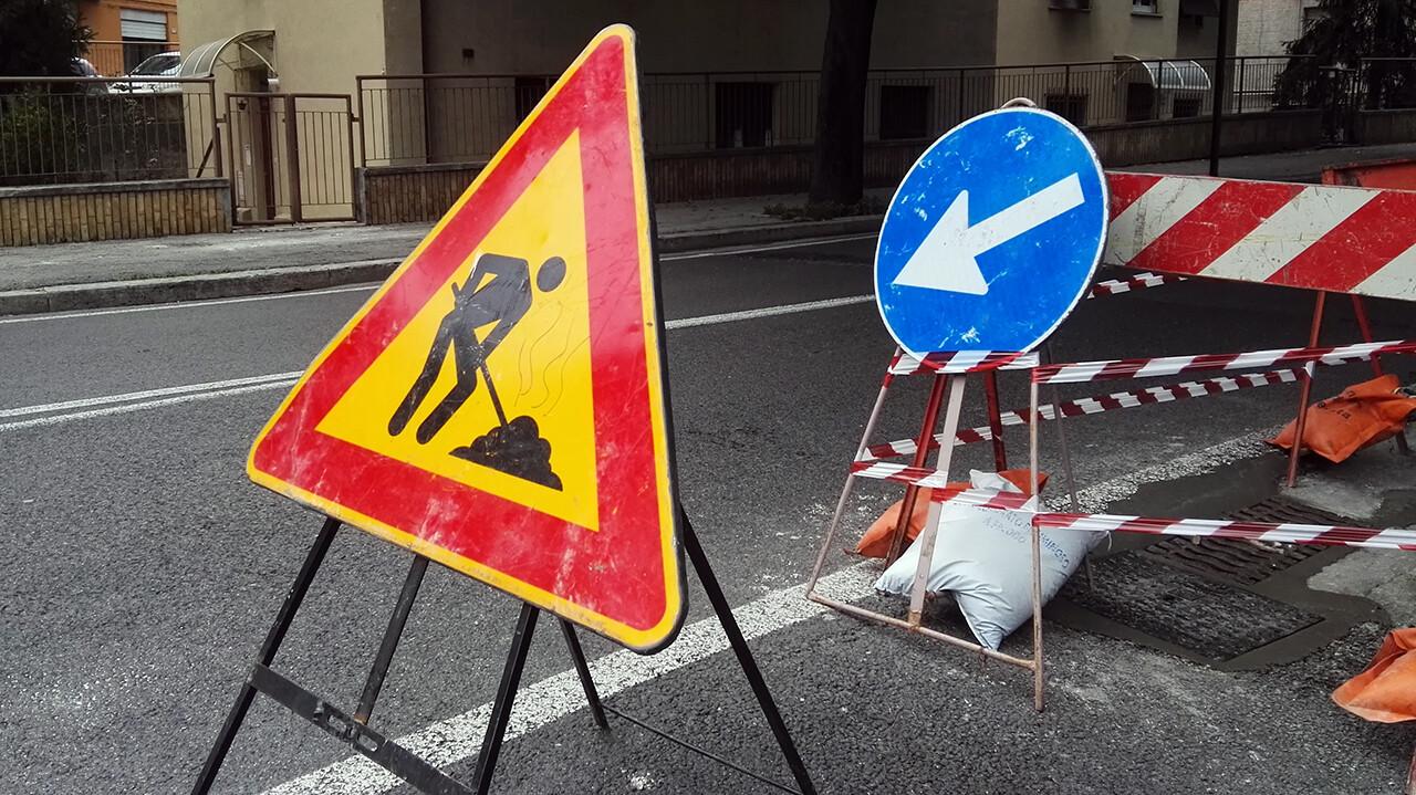 Immagine raffigurante lavori stradali in corso