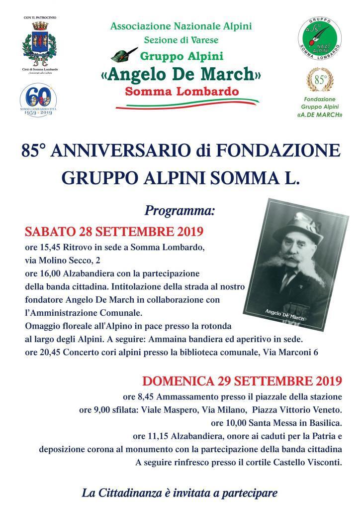 85° Anniversario della fondazione del Gruppo Alpini