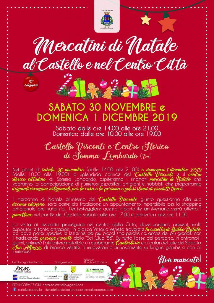 Mercatini di Natale al Castello e in Centro città